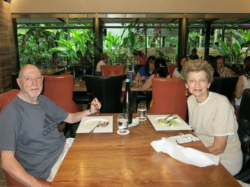 Naphtali and Marian at Halia Restaurant at the Ginger Garden