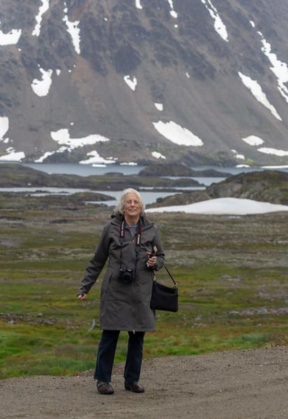 Carol inhales Greenland