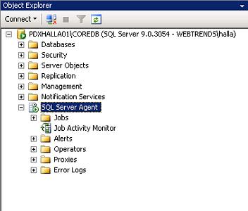 Setting up a SQL Job