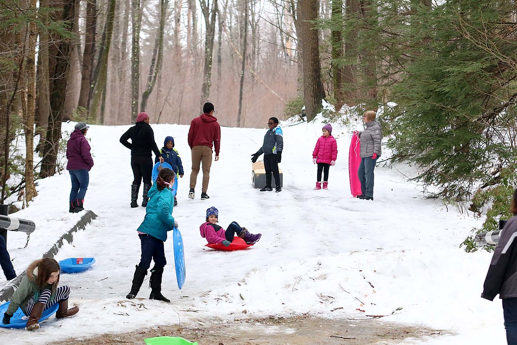 . Many enjoyed the sledding at the Fitchburg Winterfest at Coggshall on Saturday. SENTINEL & ENTERPRISE/JOHN LOVE