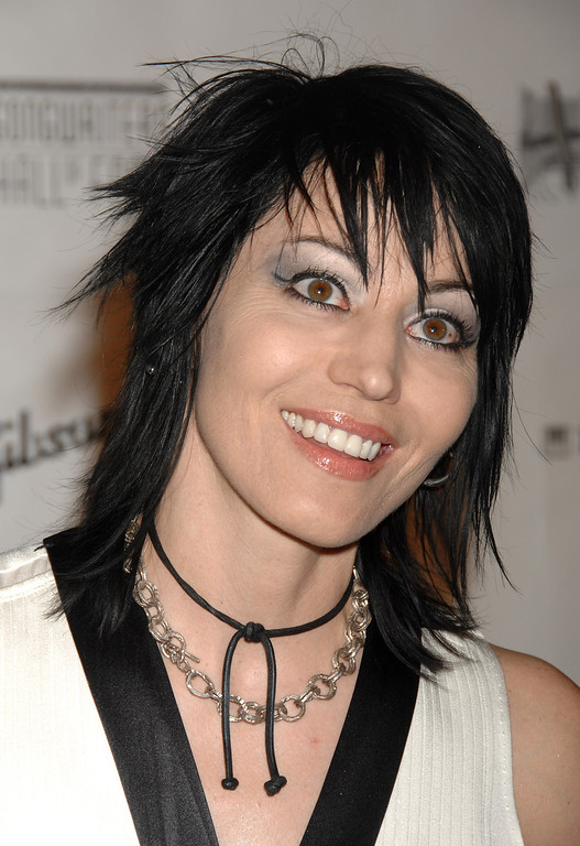 . Musician Joan Jett arrives at the 2008 Songwriters Hall of Fame induction ceremony on Thursday, June 19, 2008, in New York.  (AP Photo/Peter Kramer)
