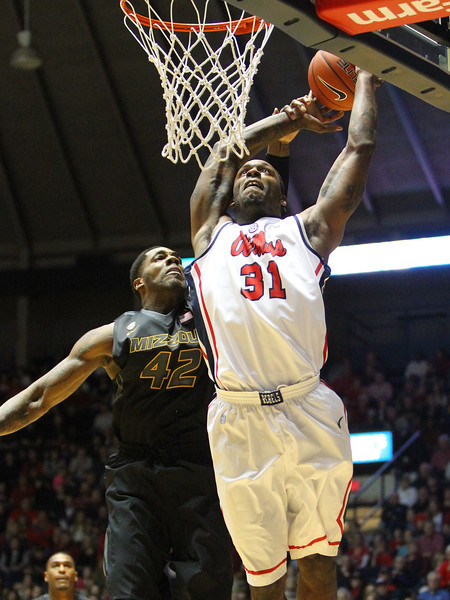 Missouri at Ole Miss basketball Jan 12 2013
