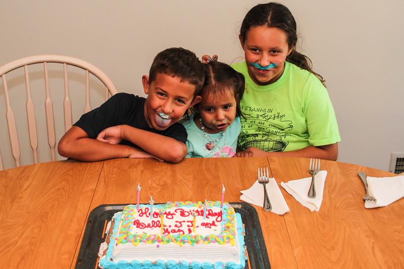 Celebrating Bella's 3rd , Yaz' 11th and JJ's 8th Birthday