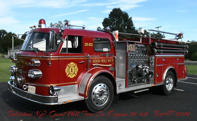 Belvidere N.J.  Good Will Fire  Engine21-62