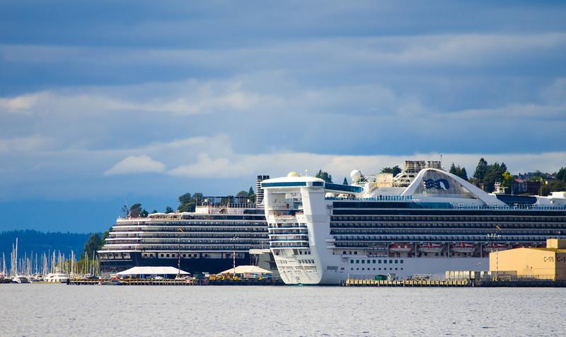 view - cruise ships