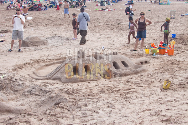 Sand Castle Contest on Coney Island Beach