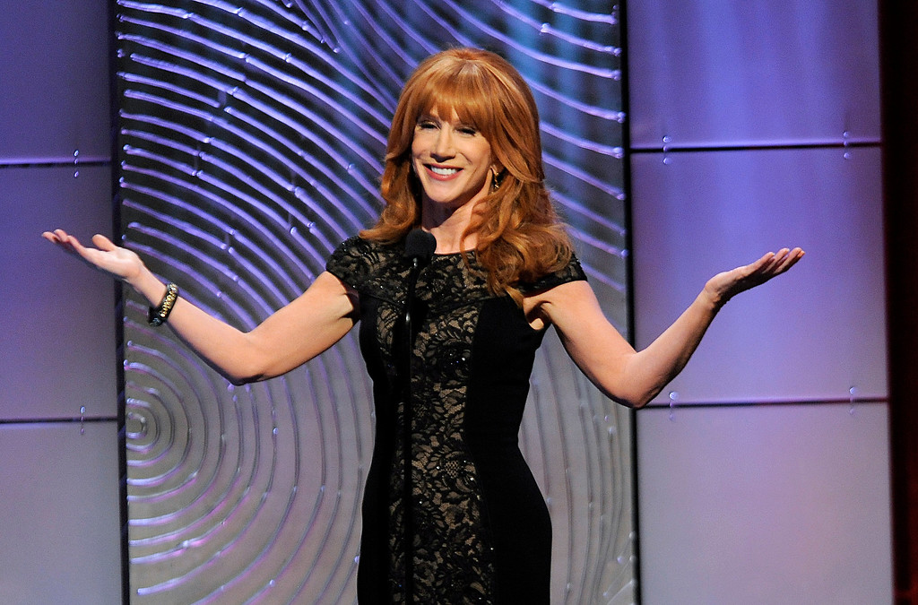 . Kathy Griffin speaks on stage at the 40th Annual Daytime Emmy Awards on Sunday, June 16, 2013, in Beverly Hills, Calif. (Photo by Chris Pizzello/Invision/AP)