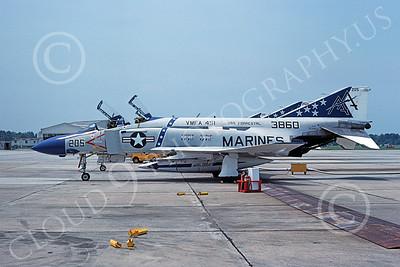 U.S. Marine Corps F-4 Phantom II Airplanes in Bicentennial Color Scheme