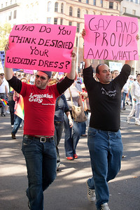 The National Equality March (10/11/09) called for equal protection for lesbian, gay, bisexual, and transgender (LGBT) people in all matters governed by civil law in all 50 states and the District of Columbia.