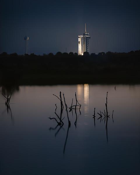 Crew-2 Mission Aboard a SpaceX Falcon 9
