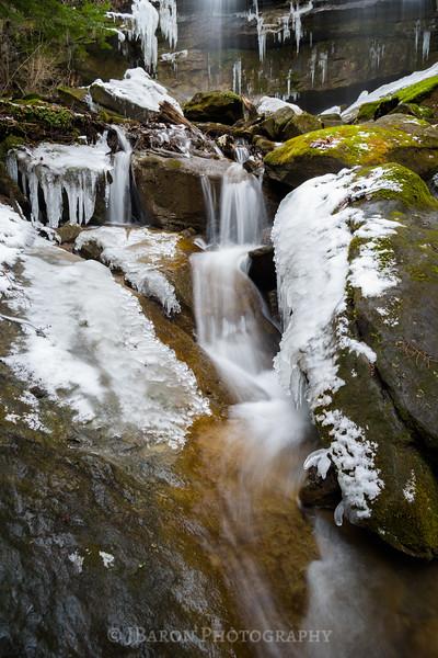 Icy Alpha Falls