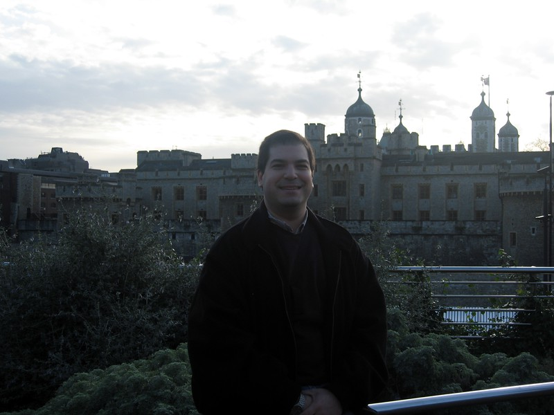 Craig, in front of Her Majesty's Royal Palace and Fortress The Tower of London