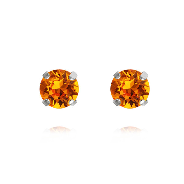 Classic Stud Earrings / Tangerine