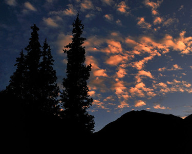 Sunset in the mountains near Silverton CO.
