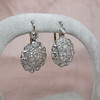 5.54ctw Edwardian Old European Cut Diamond Cluster Earrings 4
