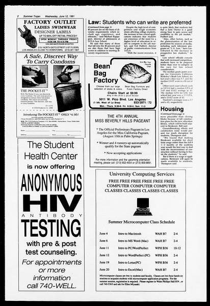 Summer Trojan, Vol. 115, No. 5, June 12, 1991