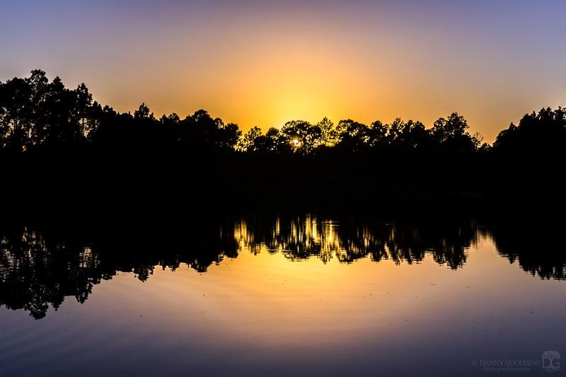 Sunset silhouette symmetry