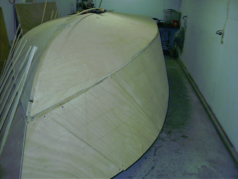 Starboard side plywood skin fit.