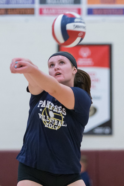Platt's Machaila Arjavich digs a North Haven serve Tuesday during a jamboree at New Britian High School in New Britian Sep. 5, 2017 | Justin Weekes / For the Record-Journal