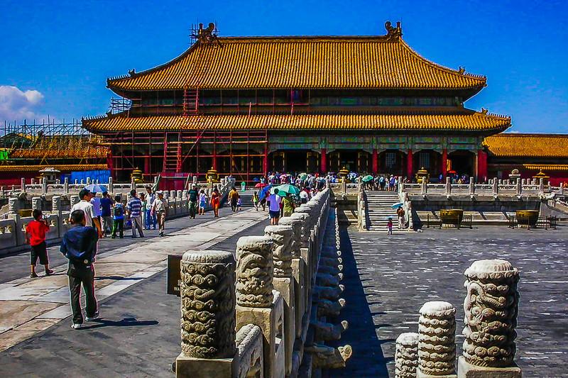 中国北京,古城风貌