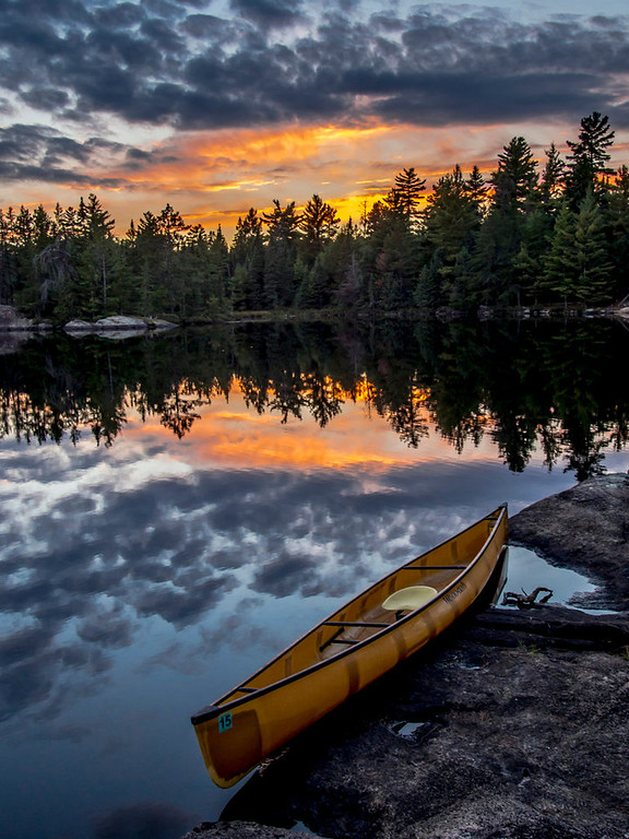 . The sunset over South Hegman Lake in the Boundary Waters Canoe Area Wilderness as seen from a small island Sept. 24, 2013. (Pioneer Press: Andy Rathbun)