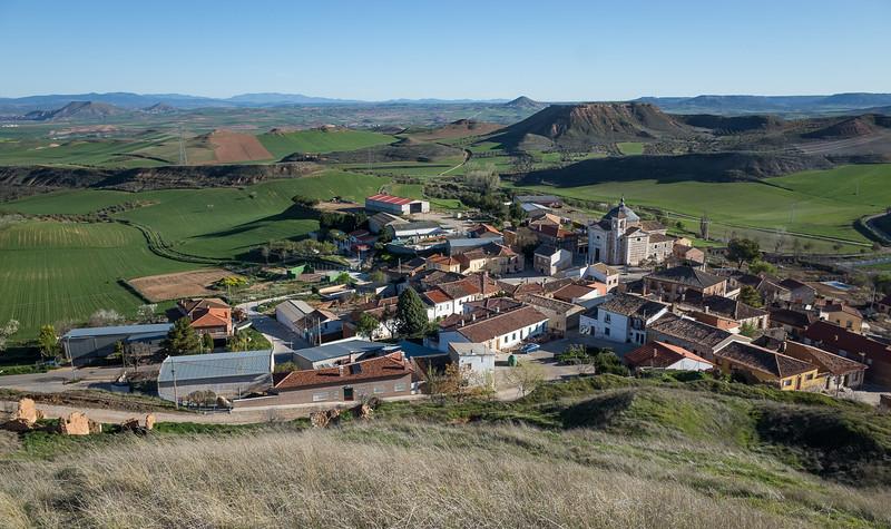 The village. La Muela can be seen top left.