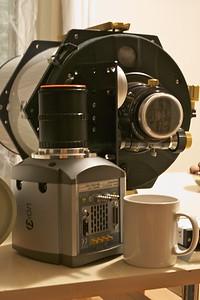 Andor Ixon on a Ritchie Chretien telescope