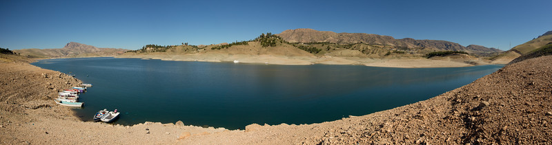 The man-made Lake Dukan was created in the 1950's by the construction of the Dukan Dam.