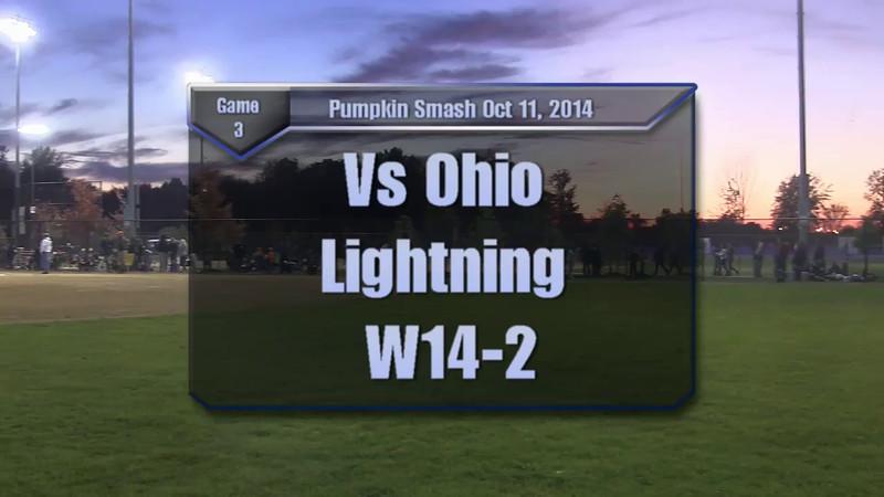 Pumpkin Smash Oct 10-12, 2014 Game 3 vs Ohio Lightning W14-2.mp4