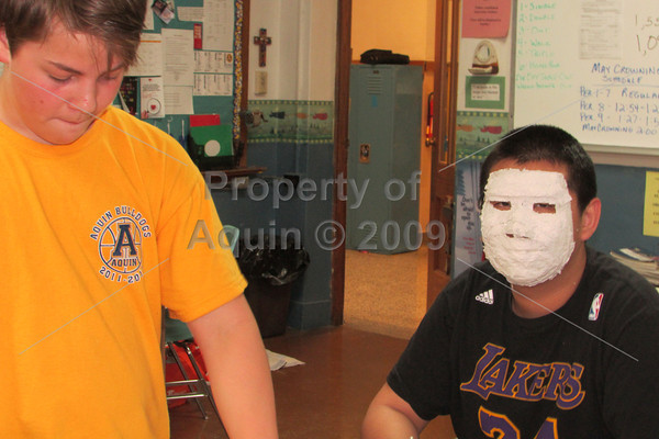 8th grade mask making . 5.15.13