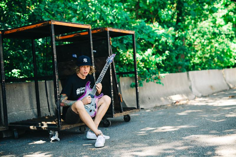 Zack Hansen Backstage in Bonners Spring, KS on Vans Warped Tour 2016