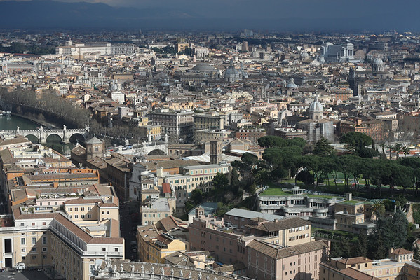 Rome: City views from atop St Peter's Basilica