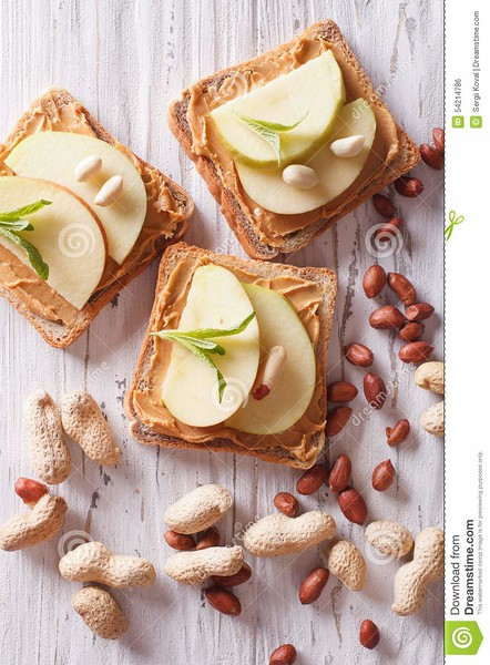 http://www.dreamstime.com/royalty-free-stock-image-sandwiches-peanut-butter-apple-vertical-top-view-table-close-up-image54214786