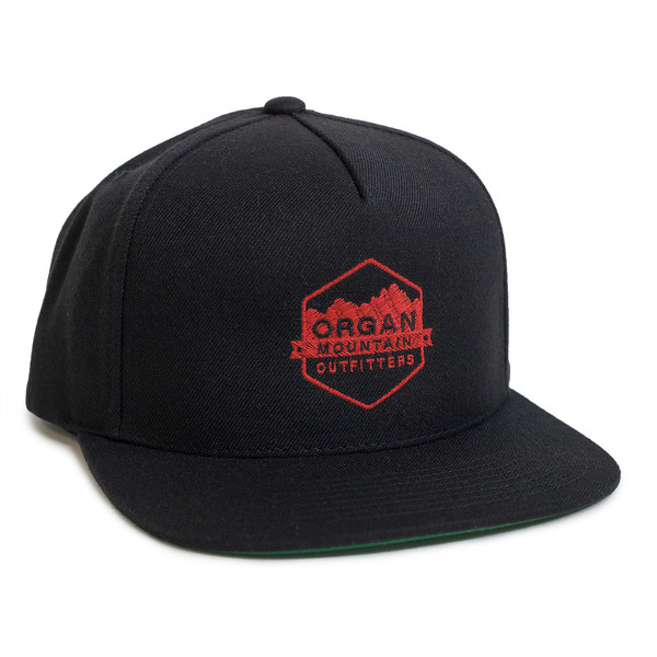 Outdoor Apparel - Organ Mountain Outfitters - Hat - Wool Blend Snapback - Black & Red.jpg