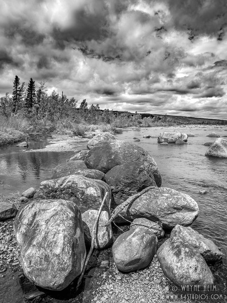 Big Rocks     Black and White Photography by Wayne Heim