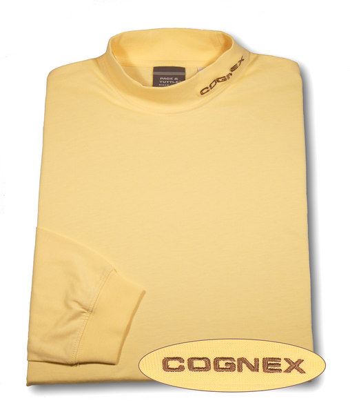Shirt with color-corrected logo