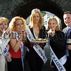 Sheila Fallon (third from left) from Galway who was the  Maiden of the Mournes 2000 winner with this years finalists  Lynne Burns (Down) Sabrina McNamee (Armagh) Michelle Burke (Warrenpoint) and Jonathon O'Reilly from Guinness at the opening of the Carlingford Oyster festival in the village last weekend. 01FF33