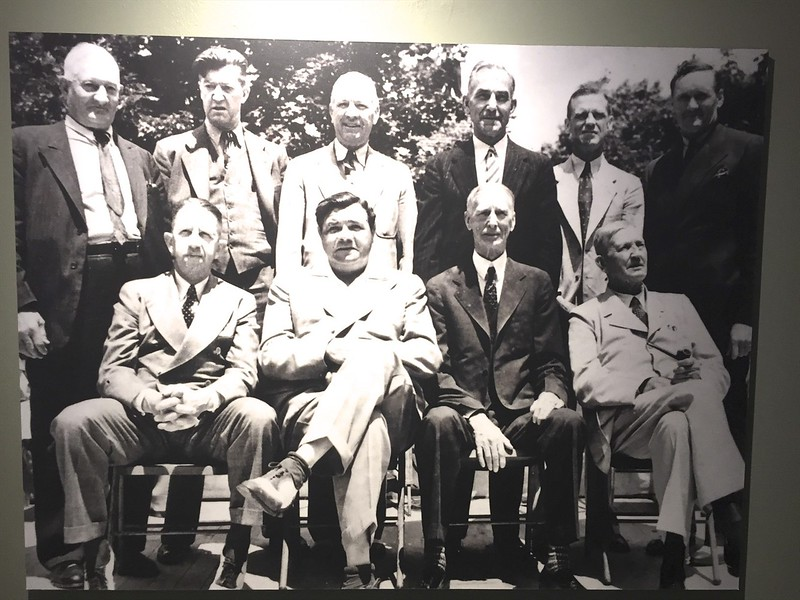 The first ever class of baseball's hall of fame.  I've been there a few times up in Cooperstown, New York.