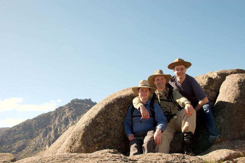 David Reckenberg, Dale Bradbury and me, at the Back Wall.