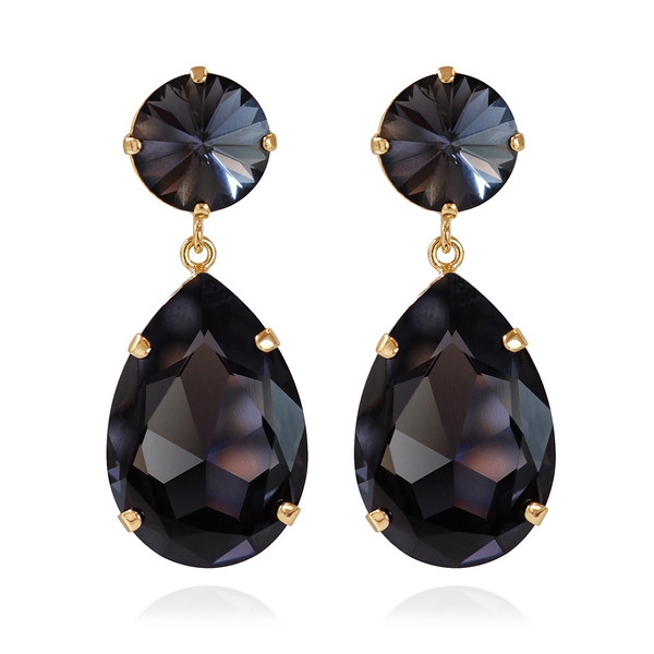 Perfect Drop Earrings / Graphite Gold