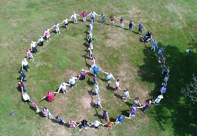 Human Peace Sign at the Norman Rockwell Museum - 081619