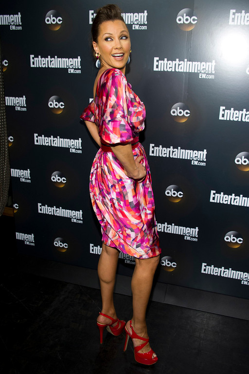 . Vanessa Williams attends the Entertainment Weekly and ABC Upfronts Party in New York, Tuesday, May 15, 2012. (AP Photo/Charles Sykes)