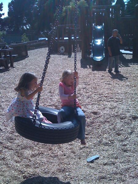 Tire swing at Aquatic Park