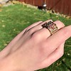 .38ctw Antique Diamond and Ruby Buckle Ring 12