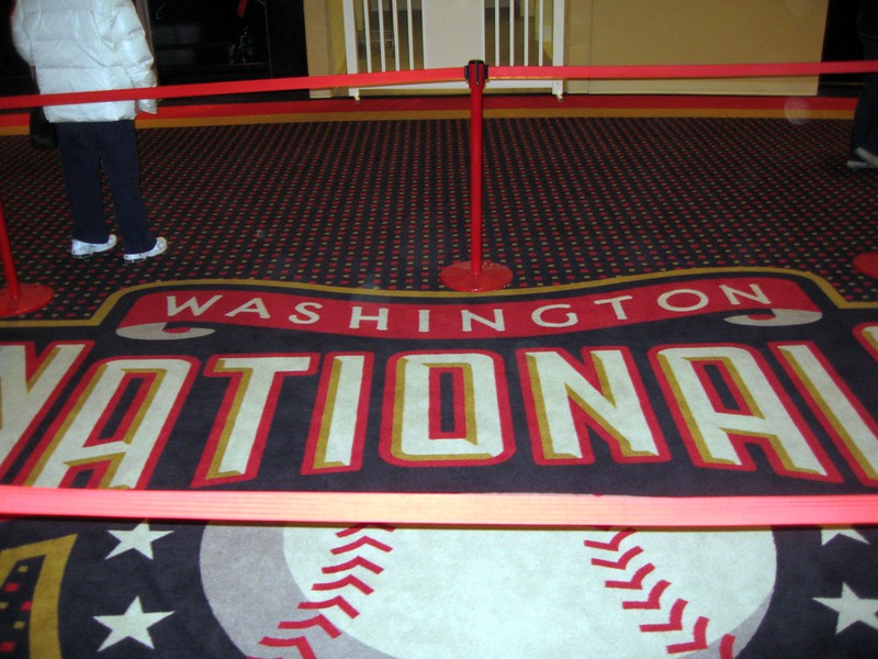 Carpet in the Nationals Clubhouse