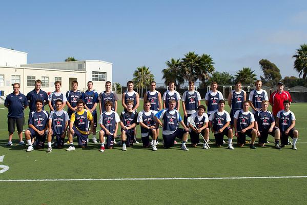 USA West Men's 2011 Lacrosse Team  6-27-2011