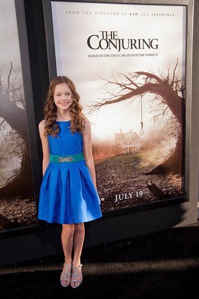 HOLLYWOOD, CA - JULY 15: Actress Mackenzie Foy arrives at the Los Angeles Premiere 'The Conjuring' at ArcLight Cinemas Cinerama Dome on Monday, July 15, 2013 in Hollywood, California. (Photo by Tom Sorensen/Moovieboy Pictures)