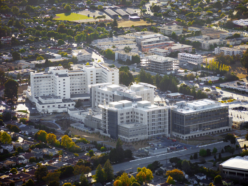 The new and old Mills-Peninsula hospitals in Burlingame, CA.
