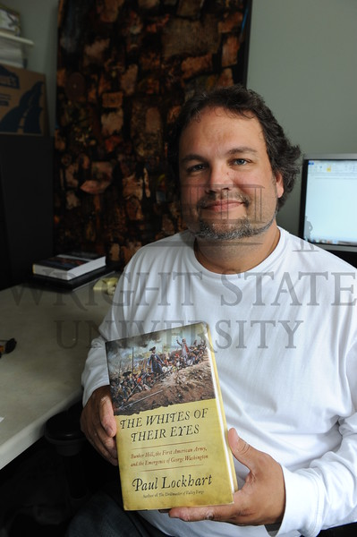 6781 Paul Lockhart with his book on the Revolutionary War 6-9-11