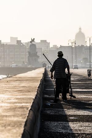 El barredor del Malecón